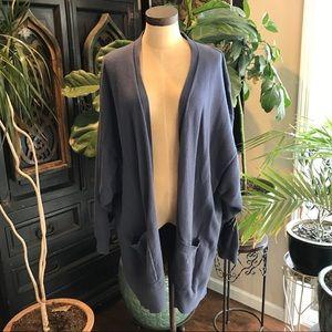 Express Azul Blue slouchy cardigan sweater